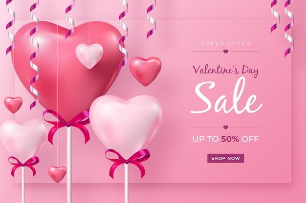 Promo di vendita di san valentino
