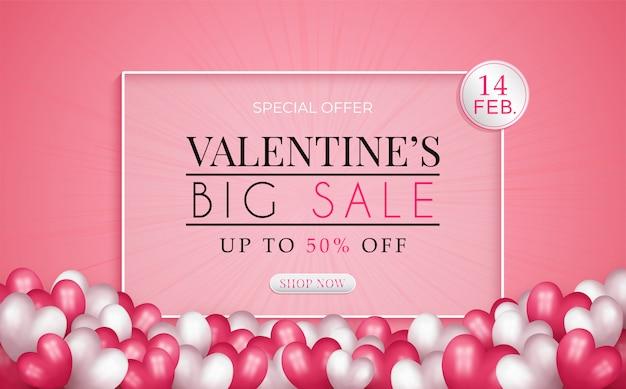 Valentine's day sale promotion banner