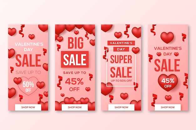 Valentine's day sale with discount