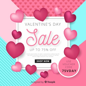 Valentine's day sales background