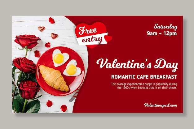 Valentine's day sales banner template