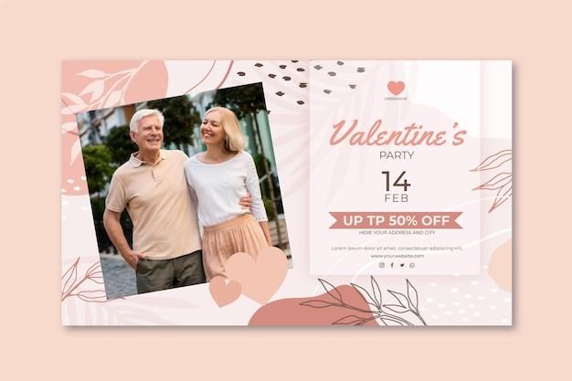 Valentine's day sales banner