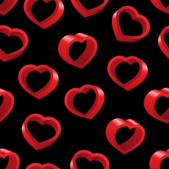 バレンタインデーのシームレスなパターンの背景