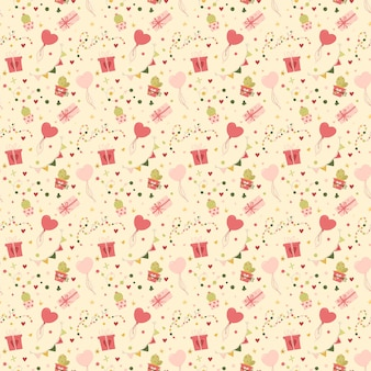 Valentine's day seamless pattern gifts and hearts.