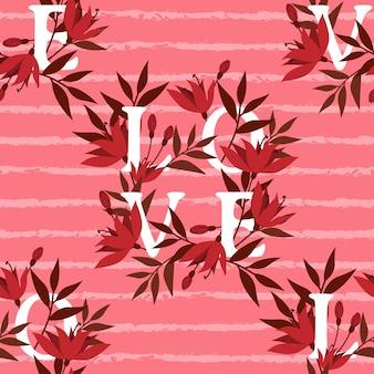 Valentine's day seamless pattern.