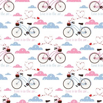 Valentine's day seamless pattern.