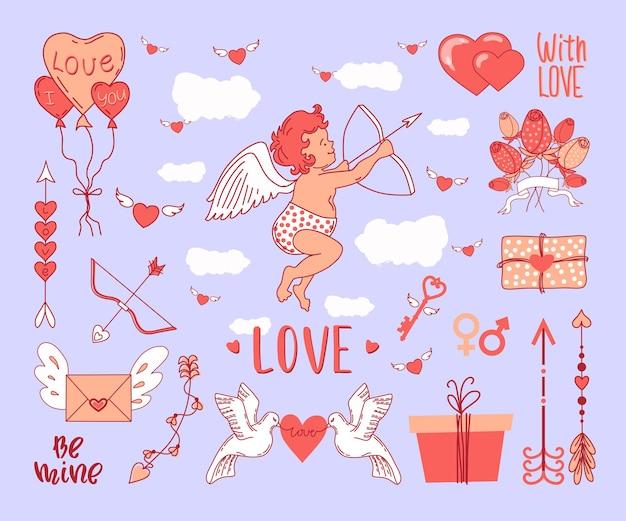 День святого валентина. амур и стихия любви.