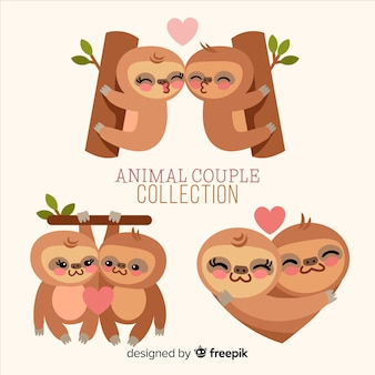 Valentine's day sloth couple pack