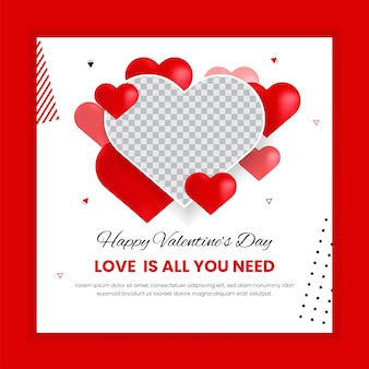 Valentine's day social media post template