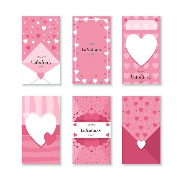 Valentine's day social media  stories set