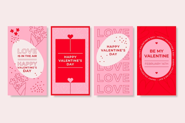 Valentine's day social media story pack