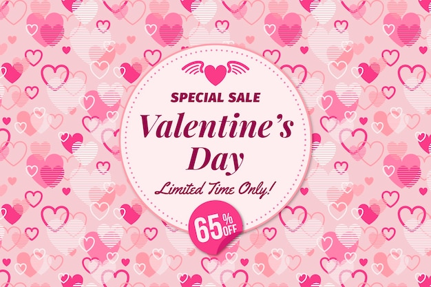 Valentine's day special sale background