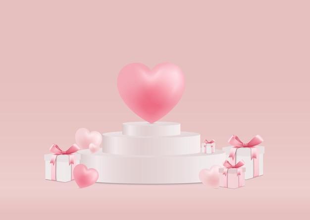 발렌타인 데이 선물 상자 스탠드