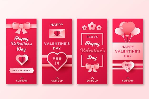 Raccolta di storie di san valentino con nastro