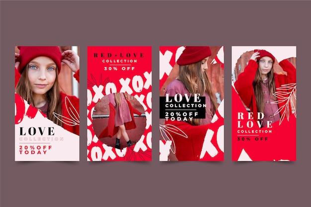 Collezione di storie di san valentino