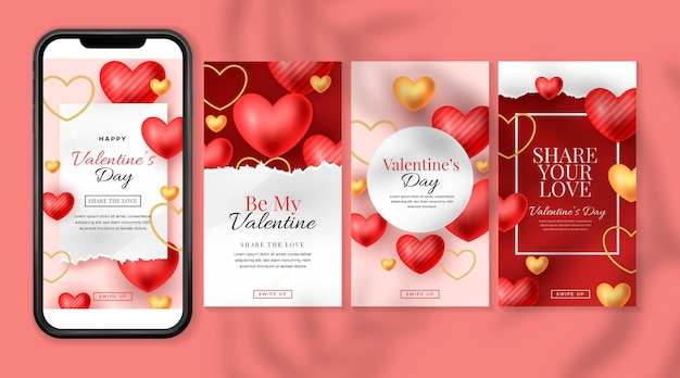 Valentine's day story set