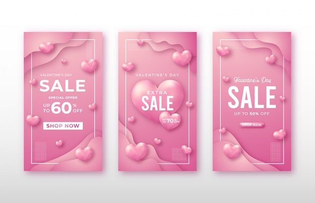 Valentine's day story social media template