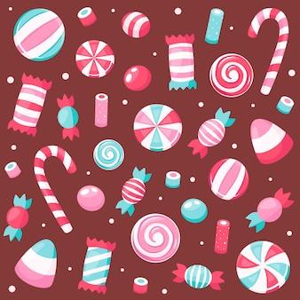 발렌타인 데이 과자와 사탕