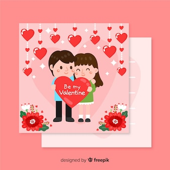 Valentine's day template with couple