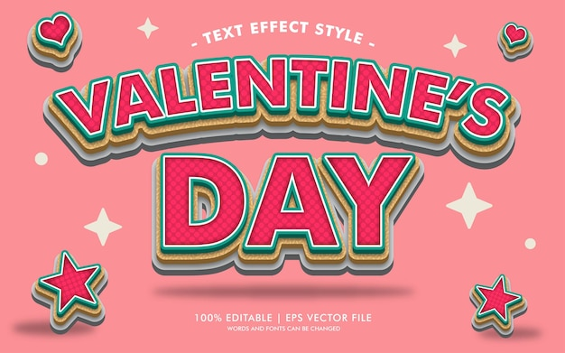 Valentine's day text effects style