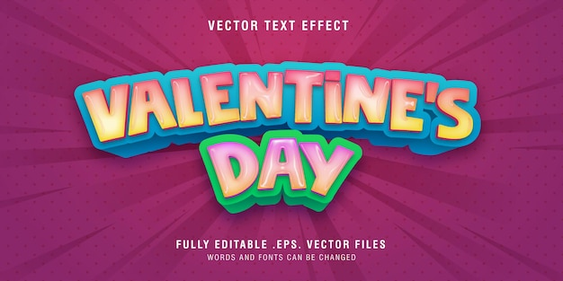 Valentine's day text style effect