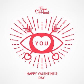 Valentine's day typographical backgound
