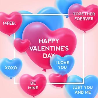 Valentine's day typographical background