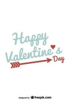 バレンタインデーのタイポグラフィミニマカードのデザイン