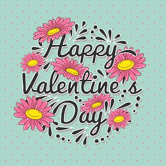 Valentine's day vector background. valentine's design card. flower paper cutting styled