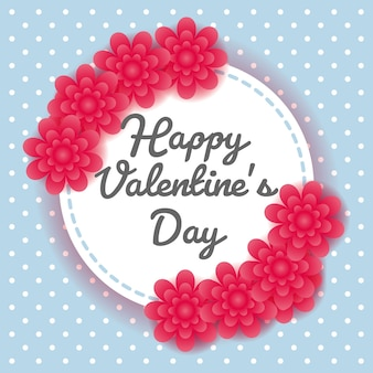 Valentine's day vector background. valentine's design card. flower paper cutting styled.