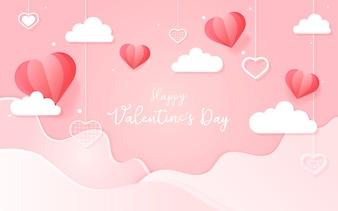 Концепция дизайна вектор день Святого Валентина
