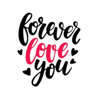 Valentine's Day vector lettering.