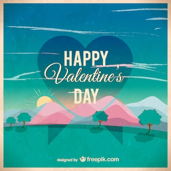 Valentine's day wallpaper template