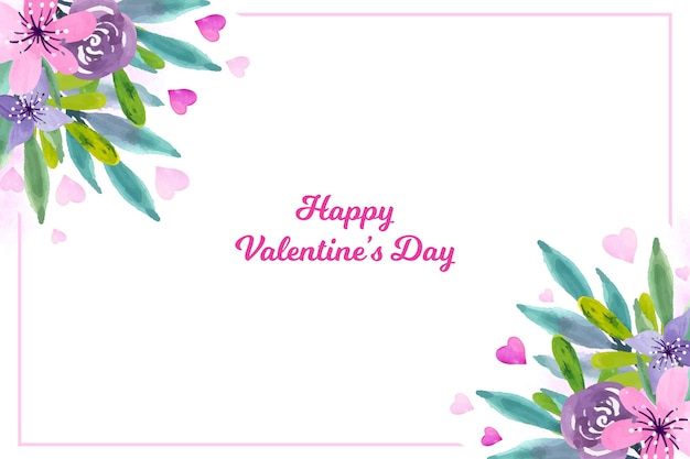 Valentine's day wallpaper with flowers