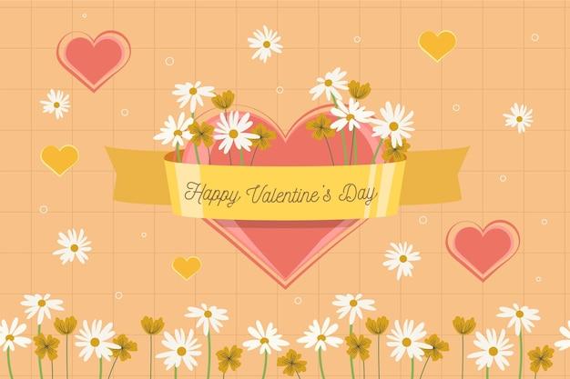 Carta da parati di san valentino con fiori