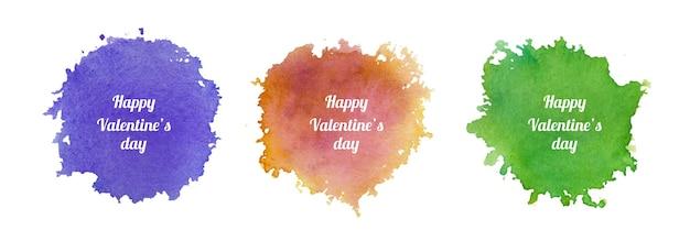 발렌타인 수채화 스플래시 디자인