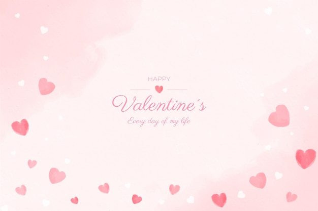 Valentine's day watercolour background