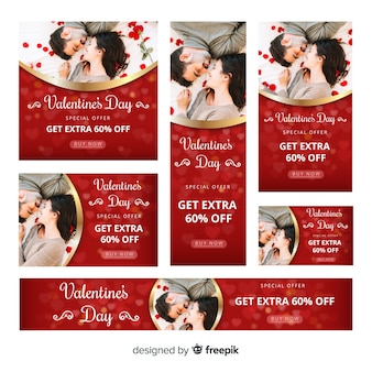 Valentine's day web banner collectio