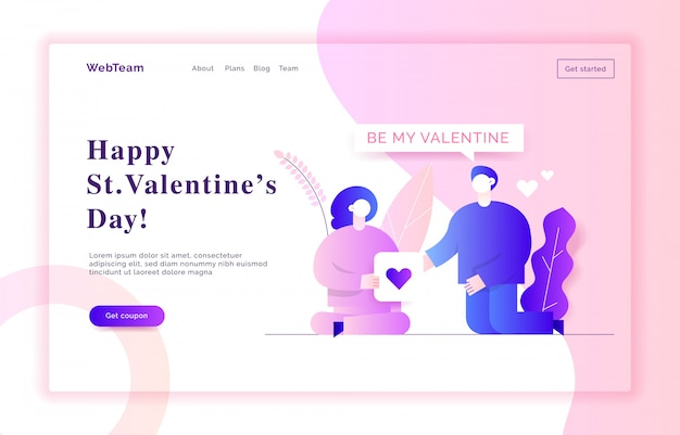 Valentine's day web banner illustration