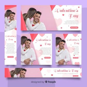 Banner web di san valentino