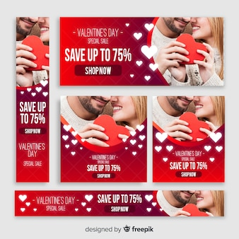 Valentine's day web banners