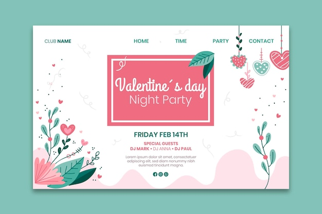Valentine's day web template