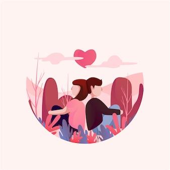 День святого валентина с парой