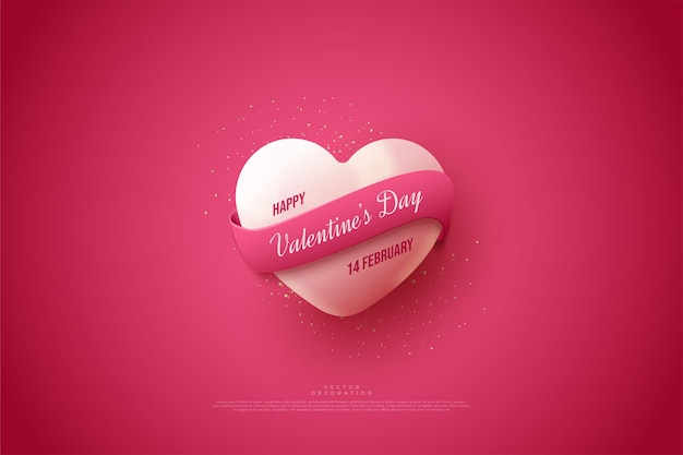 Valentine's day with heart