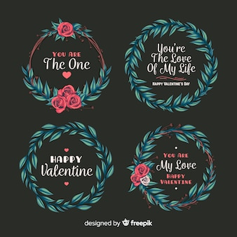 Valentine's day wreath collection