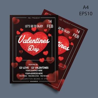 Valentine's flyer vector