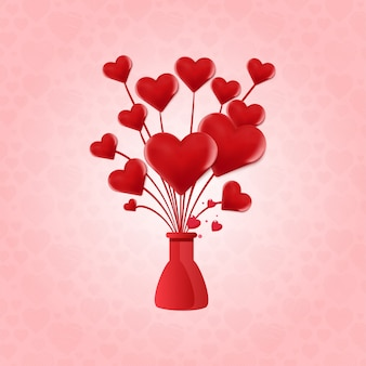 Valentine's heart balloon