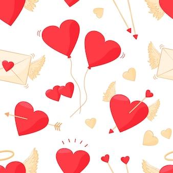 발렌타인 심장 완벽 한 패턴입니다.