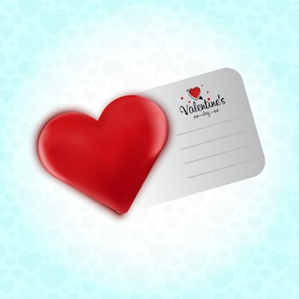 Valentine's inviation card with heart