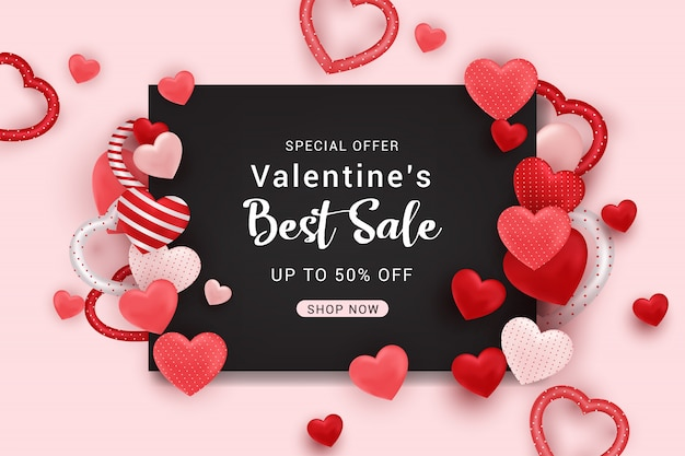 Valentine's sale banner background template